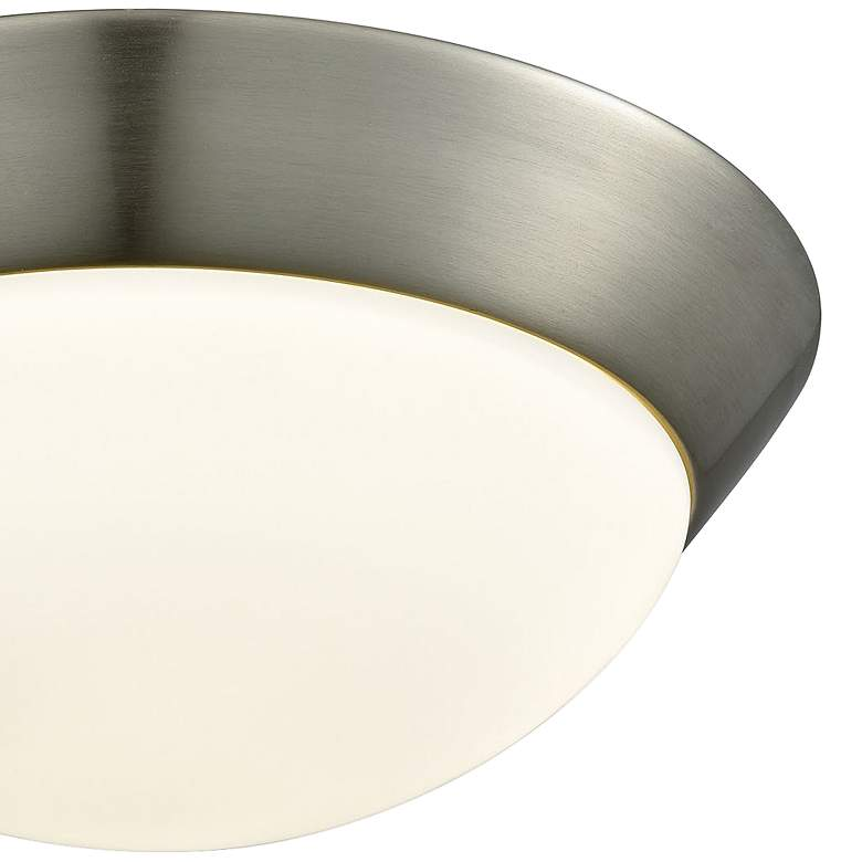"Contours 11"" Wide Satin Nickel LED Ceiling Light more views"
