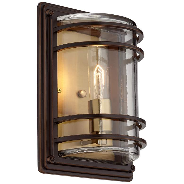 "Habitat 11"" High Bronze and Warm Brass Outdoor Wall Light more views"