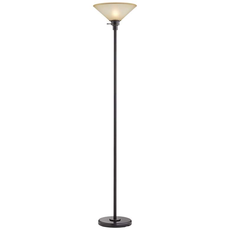 Soho Collection Dark Bronze Finish Torchiere Floor Lamp more views
