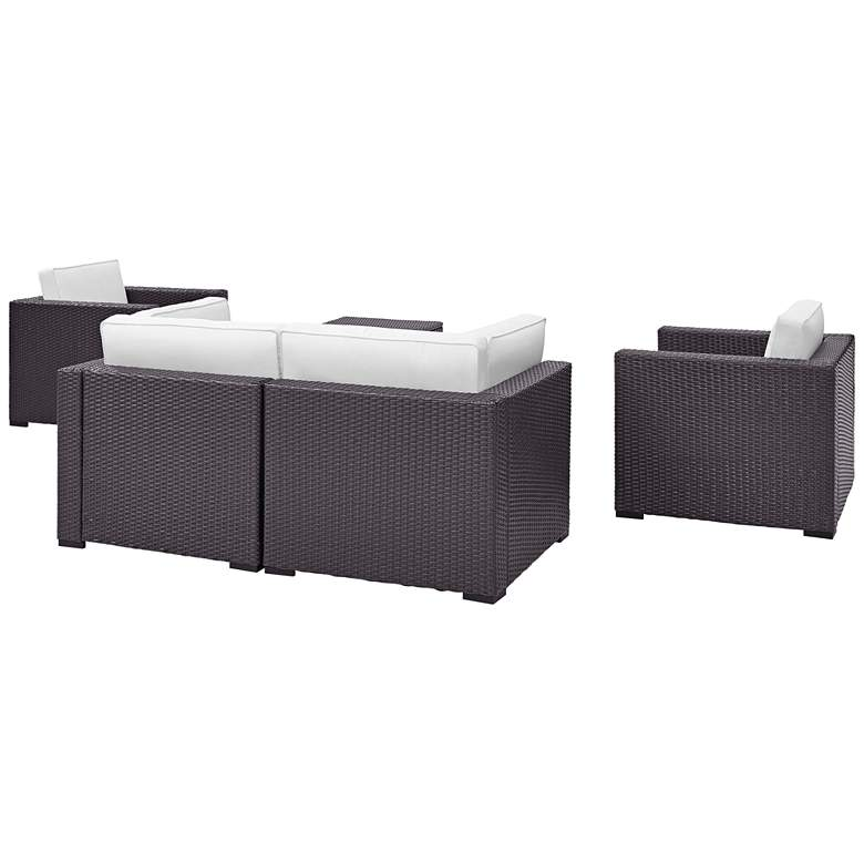 Biscayne White Fabric 5-Piece 4-Seat Outdoor Patio Set more views