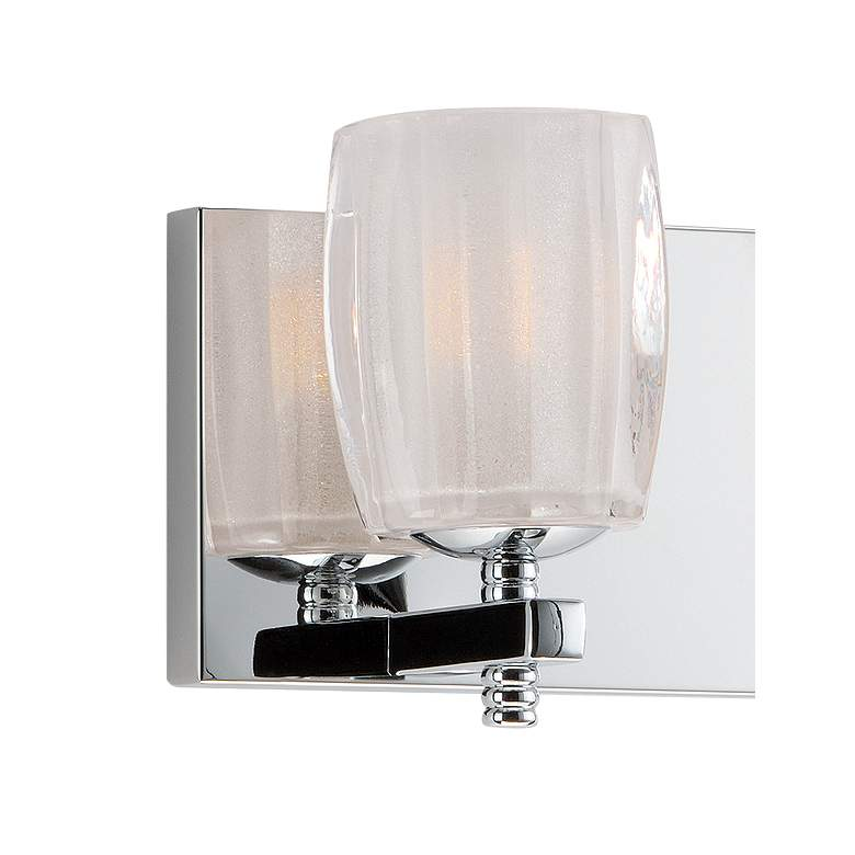"Maxim Bravado 19"" Wide Polished Chrome 3-LED Bath Light more views"
