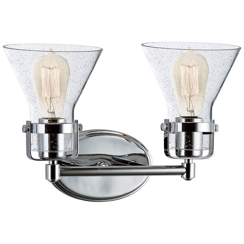 "Maxim Seafarer 9 3/4""H Polished Chrome 2-Light Wall Sconce more views"