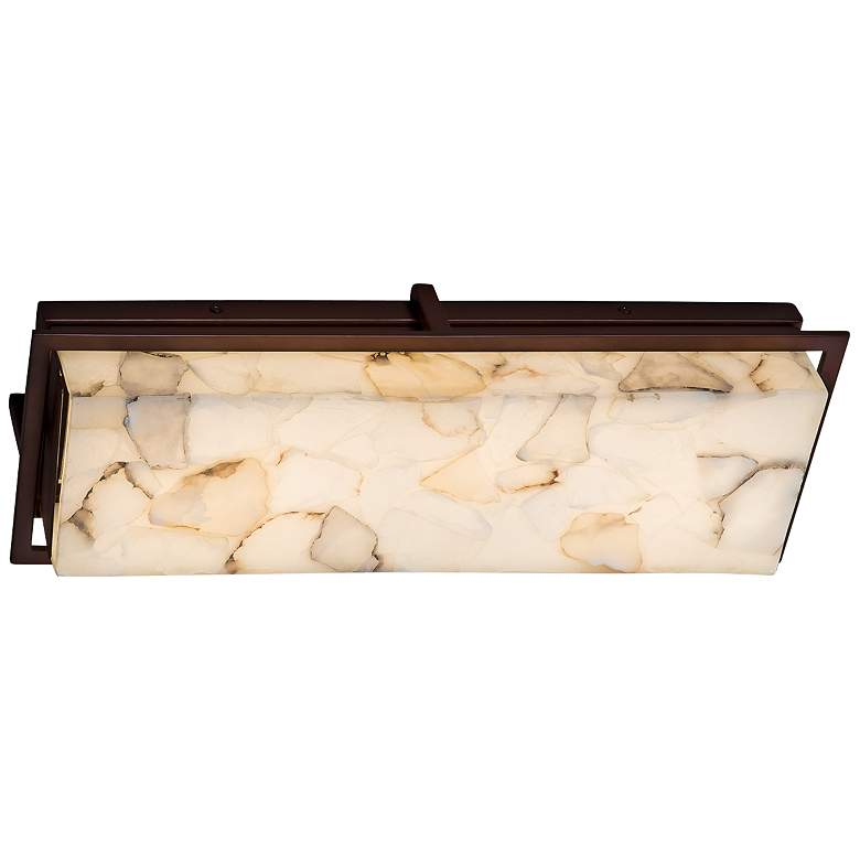 "Alabaster Rocks!™ Avalon 18""H Bronze LED Outdoor Wall Light more views"