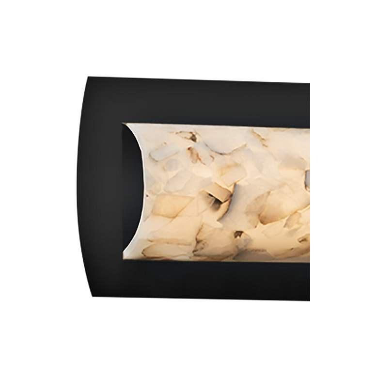 "Alabaster Rocks!™ Lineate 21 1/2"" Wide Black LED Bath Light more views"