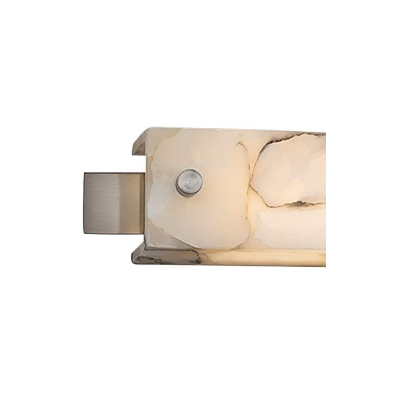 "Alabaster Rocks!™ Edge 23""W Brushed Nickel LED Bath Light more views"