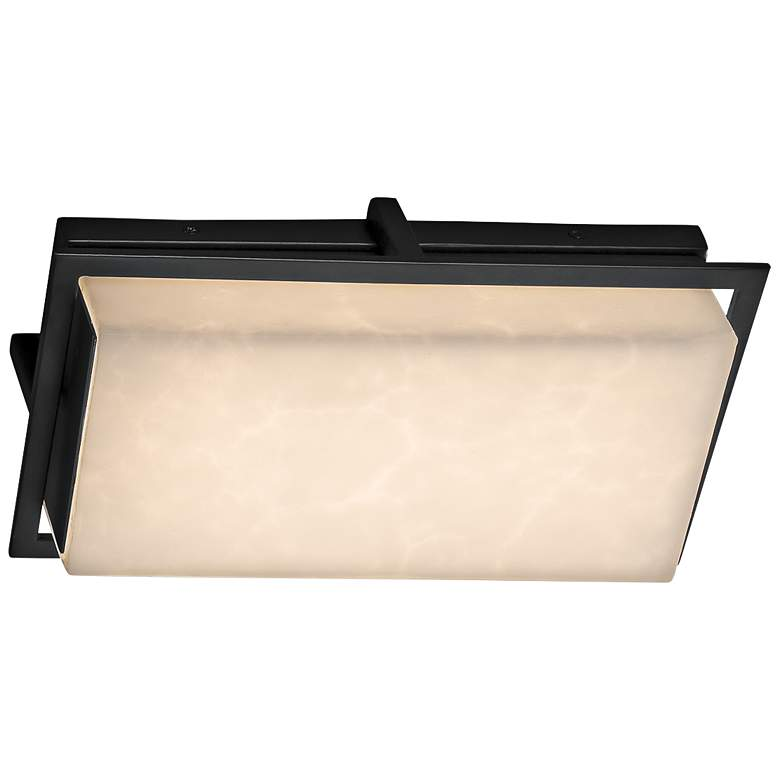 "Clouds™ Avalon 12"" High Matte Black LED Outdoor Wall Light more views"