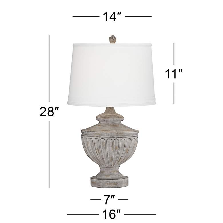 Villa Pompeii Brown and Weathered Gray Table Lamp more views