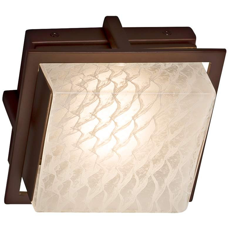 "Fusion™ Avalon 6 1/2""H Dark Bronze LED Outdoor Wall Light more views"