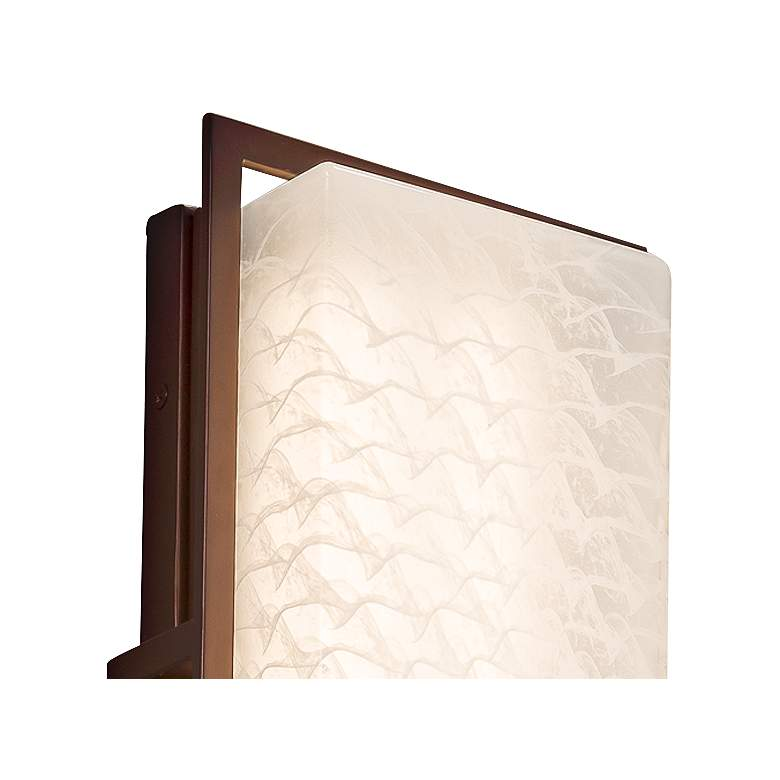 "Fusion Avalon 12""H Weave Glass Bronze LED Outdoor Wall Light more views"