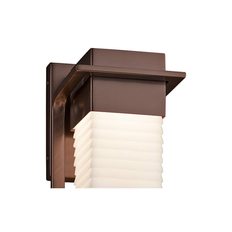 "Porcelina™ Pacific 16 1/2""H Bronze LED Outdoor Wall Light more views"
