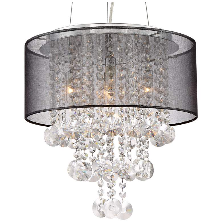 "Possini Euro Bretton 16"" Wide Chrome and Crystal Chandelier more views"