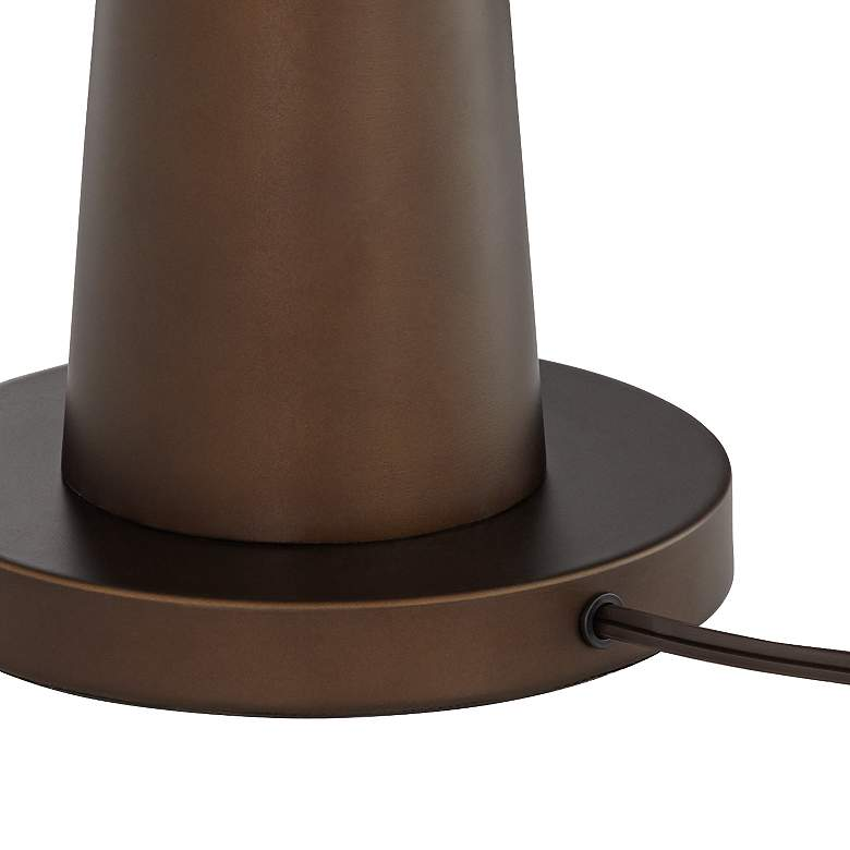 Possini Euro Design Luis Oil Rubbed Bronze Metal Table Lamp more views