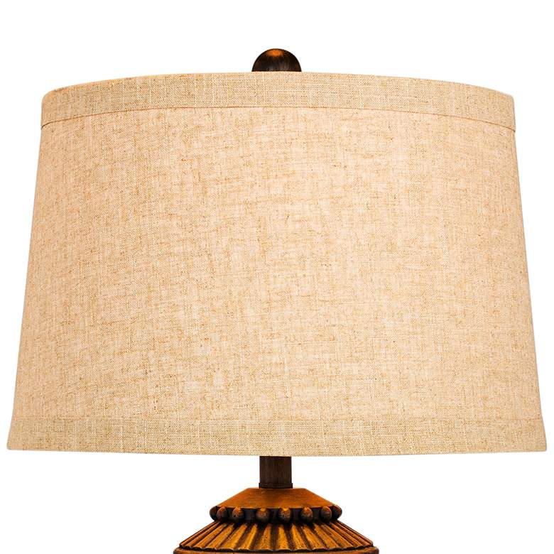 Teton Tribal Marked Brown Table Lamp more views