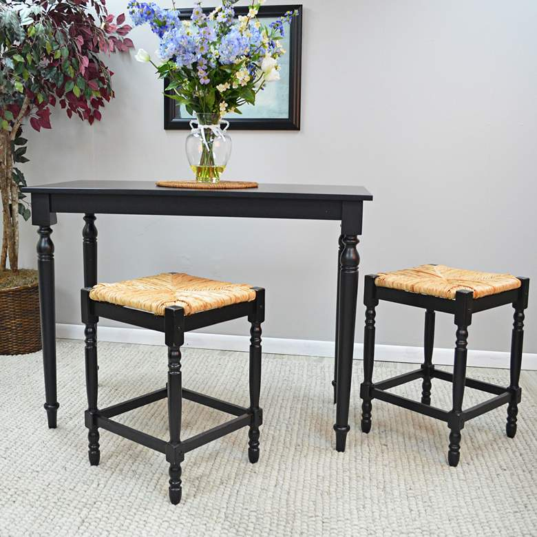 "Thomasville 23 3/4"" Antique Black Counter Stool more views"