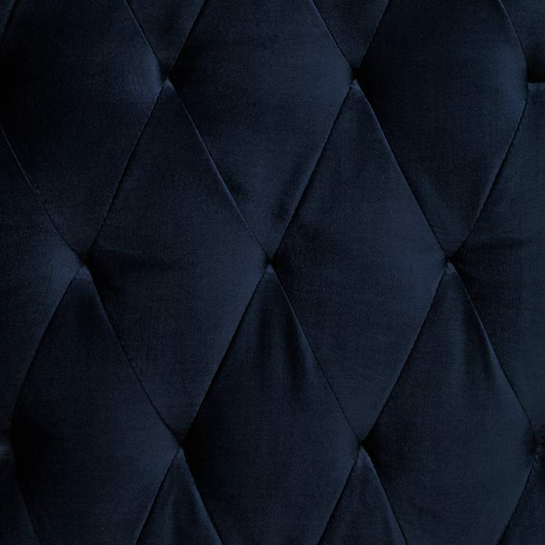 Williamsburg Navy Blue Tufted Wingback Armchair more views