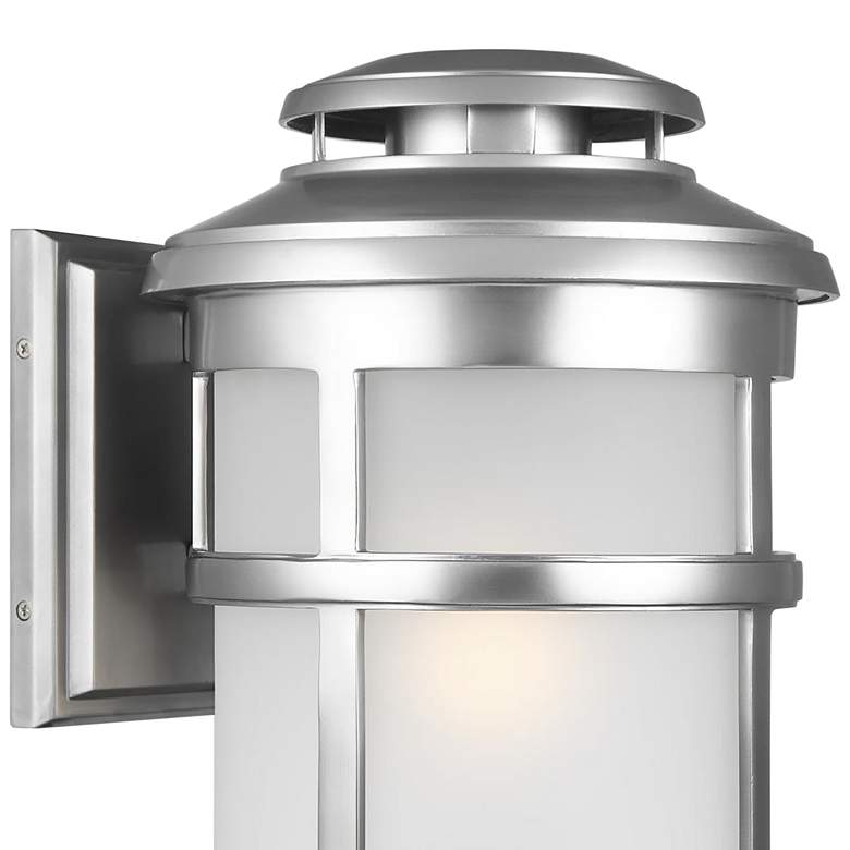 "Feiss Newport 20""H Painted Brushed Steel Outdoor Wall Light more views"