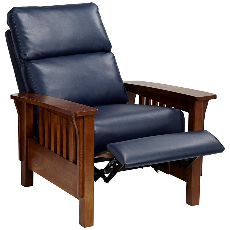 Evan Augusta Royal Blue 3-Way Recliner Chair more views