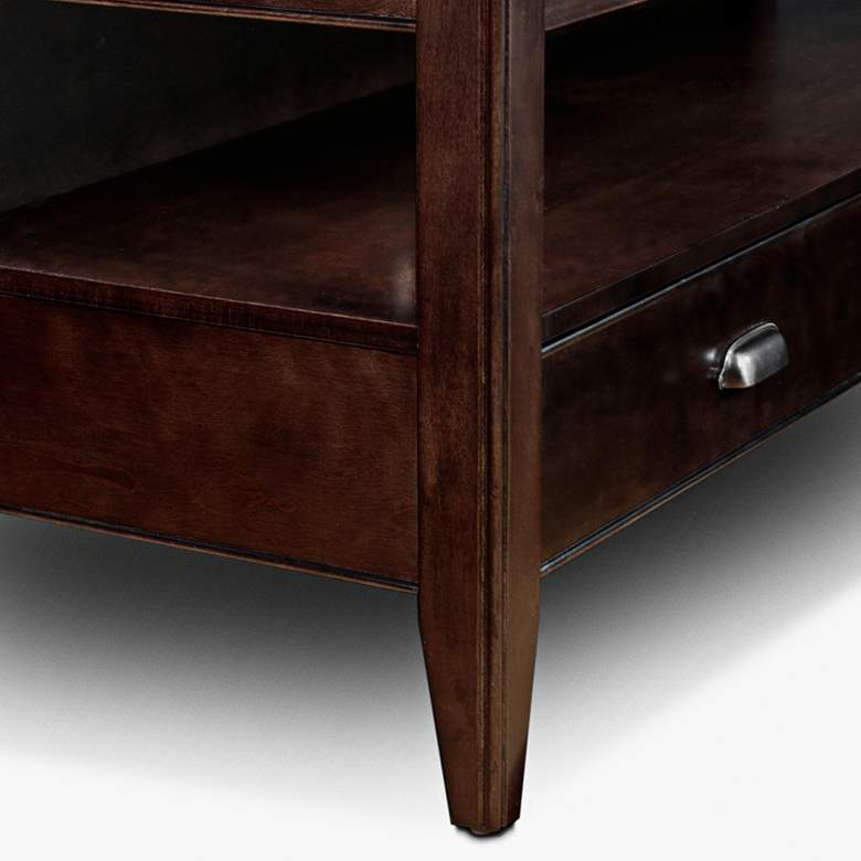 "Laurent 50"" Wide Chocolate Cherry 2-Drawer Wood TV Stand more views"