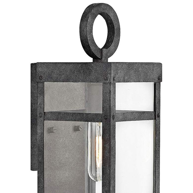 "Hinkley Porter 13"" High Aged Zinc Outdoor Wall Light more views"