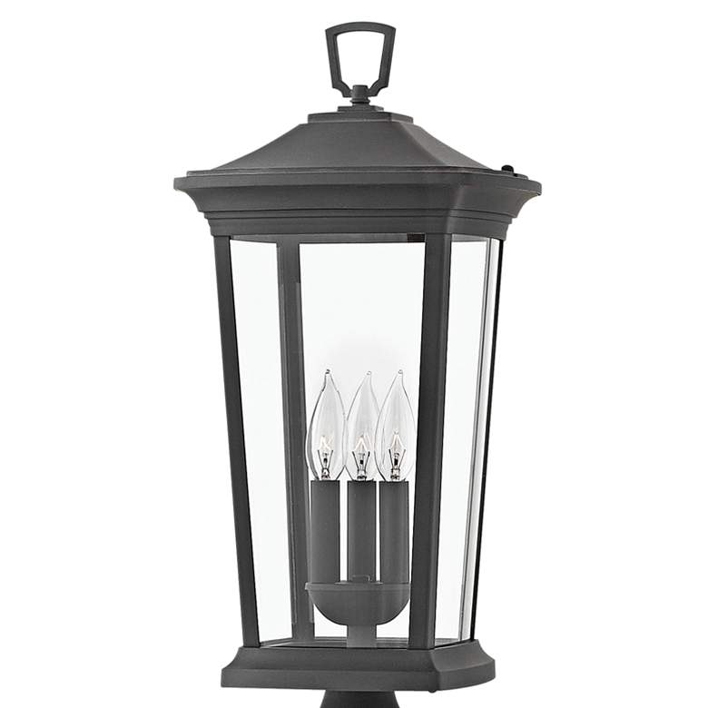 "Hinkley Bromley 22 3/4"" High Museum Black Outdoor Post Light more views"
