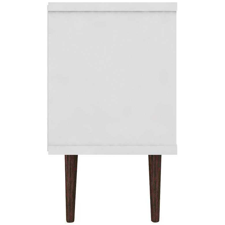 "Liberty 53 1/4"" White and Rustic Brown Wood 1-Door TV Stand more views"