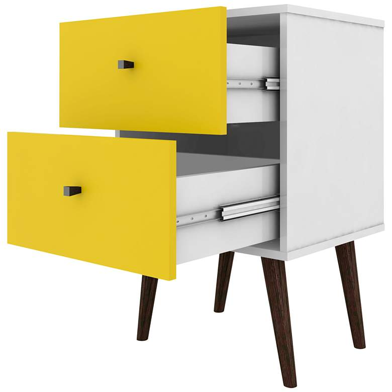 "Liberty 17 3/4"" Wide Yellow 2-Drawer Modern Nightstand more views"