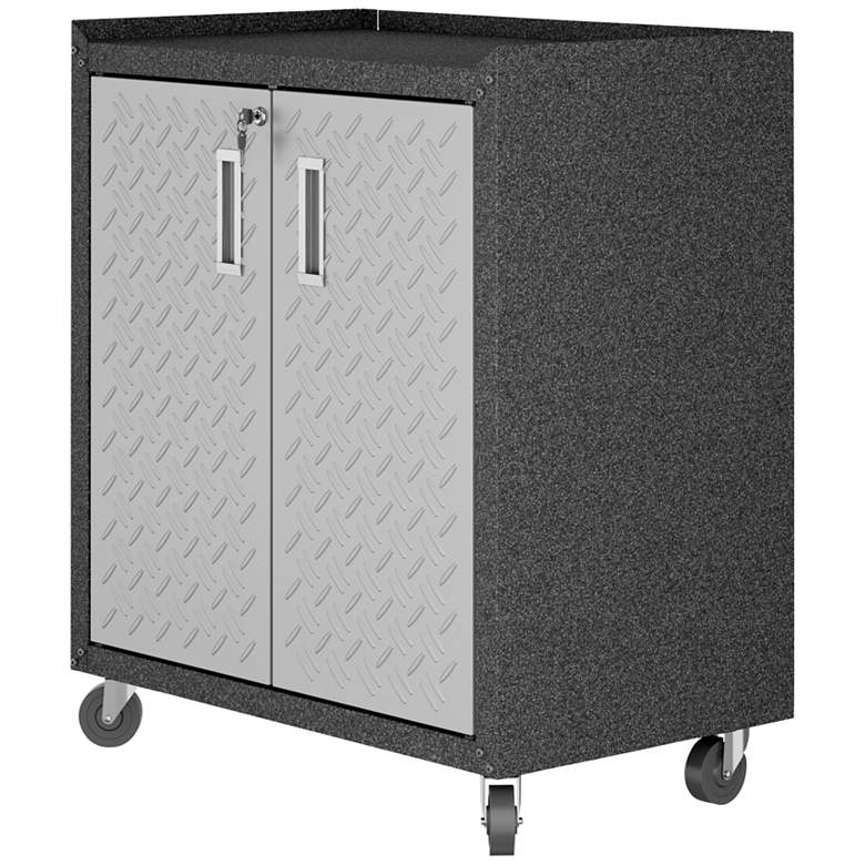 "Fortress 30 1/4"" Wide Metal 2-Door Garage Mobile Cabinet more views"