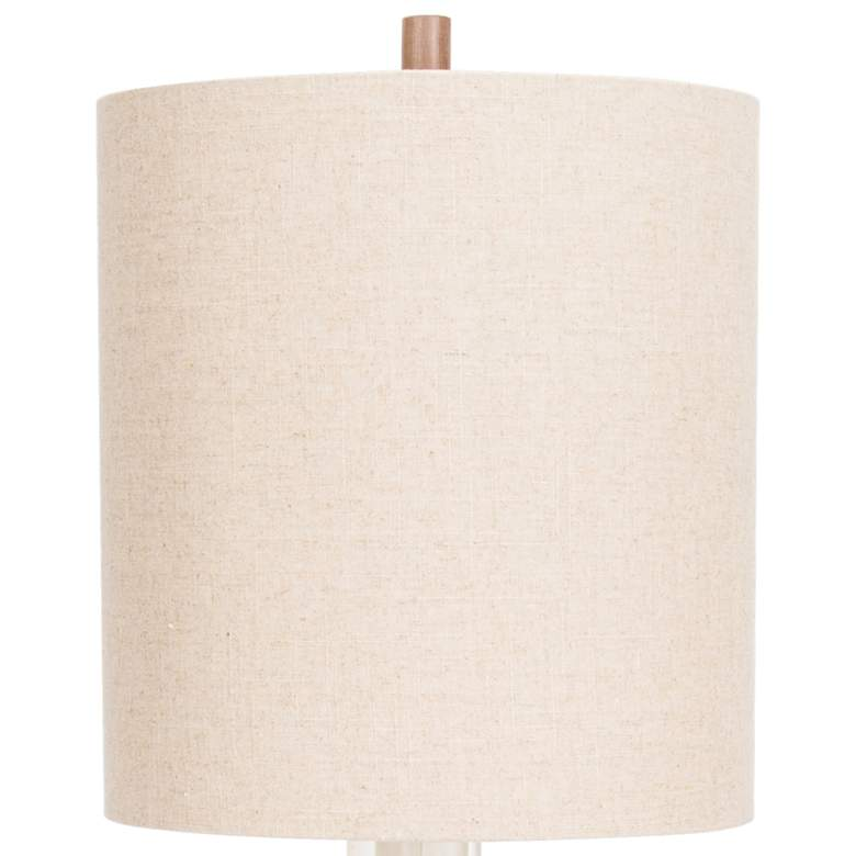 Embarcadero Natural Walnut and Clear Frosted Table Lamp more views