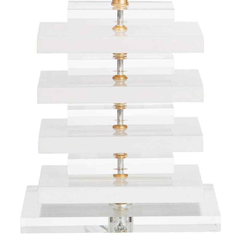 Couture Devonshire High-Gloss White Table Lamp more views