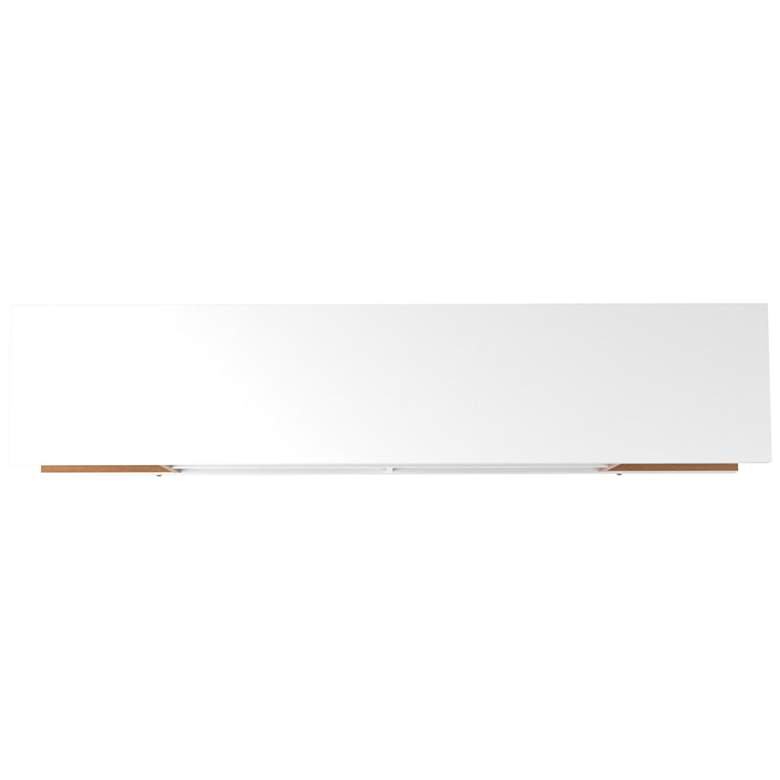 Utopia White Gloss and Maple Cream 5-Shelf TV Stand more views