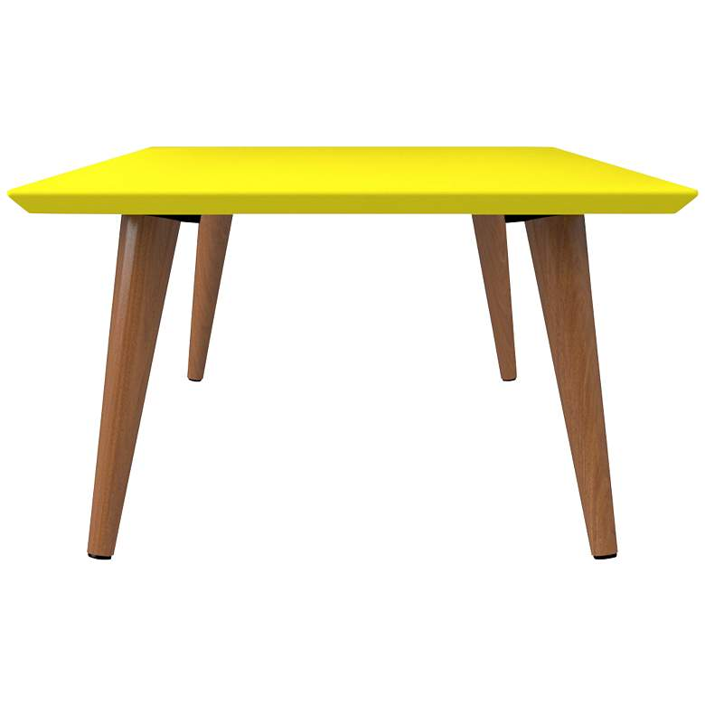 "Utopia 40 1/4"" Wide Yellow Rectangular Modern Coffee Table more views"