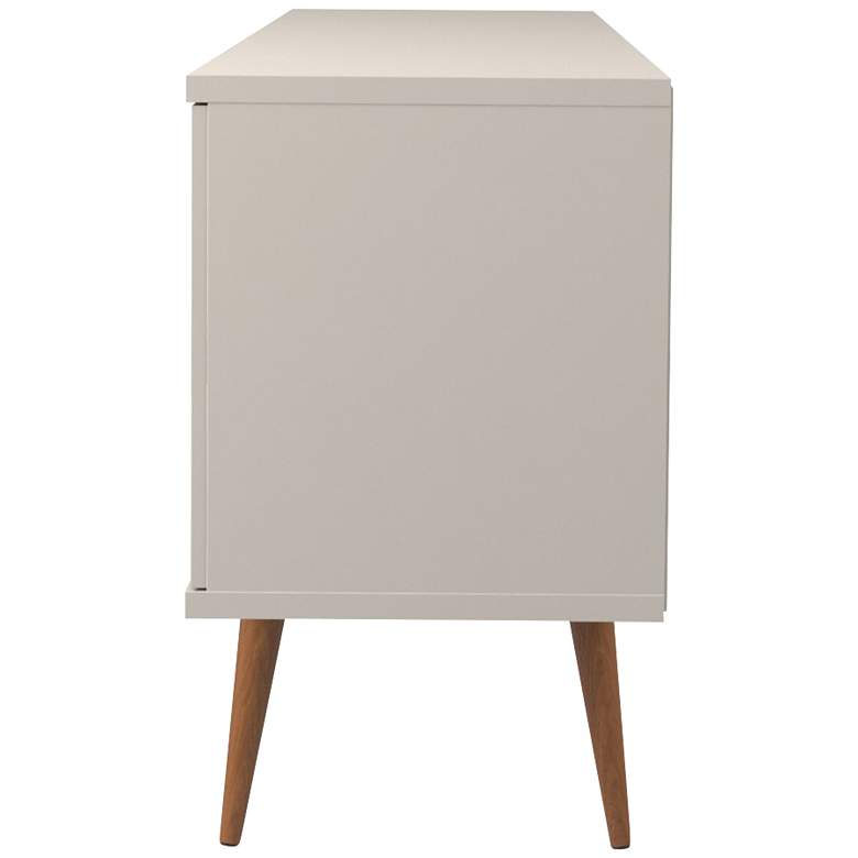 Utopia Off-White and Maple Cream 3-Drawer Sideboard more views