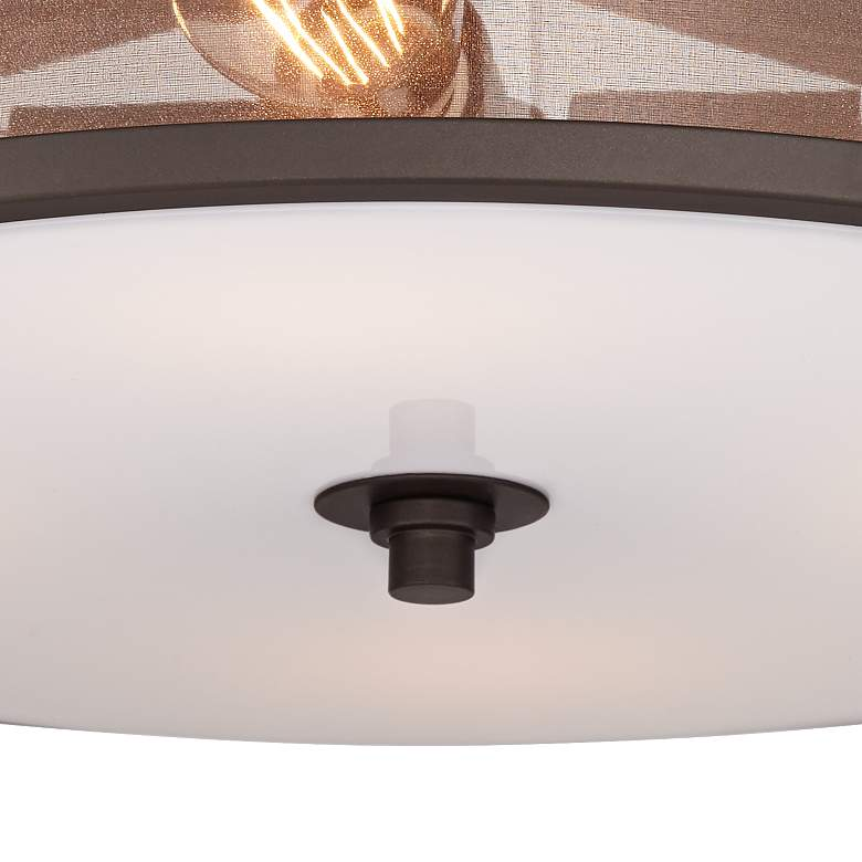 Possini Euro Nadia Bronze and Organza 4-Light Ceiling Light more views