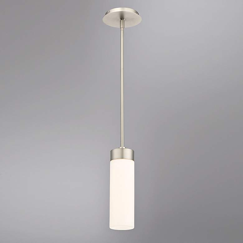 "dweLED Elementum 3 1/2"" Wide Satin Nickel LED Mini Pendant more views"
