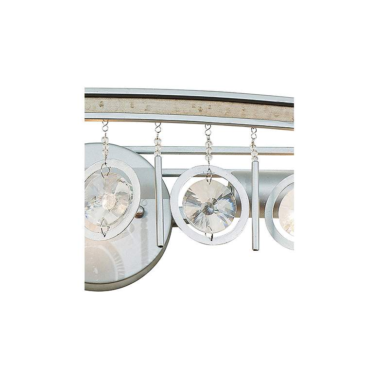"Varaluz Charmed 33"" Wide Silver 3-Light Bath Light more views"