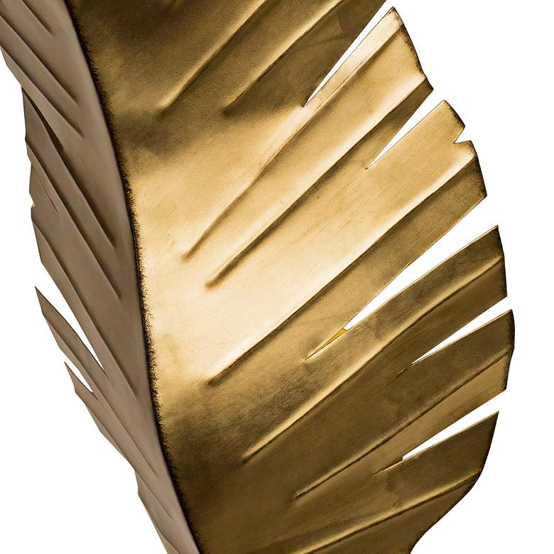 "Varaluz Banana Leaf 17"" High Tropical Gold 2-Light Wall Sconce more views"