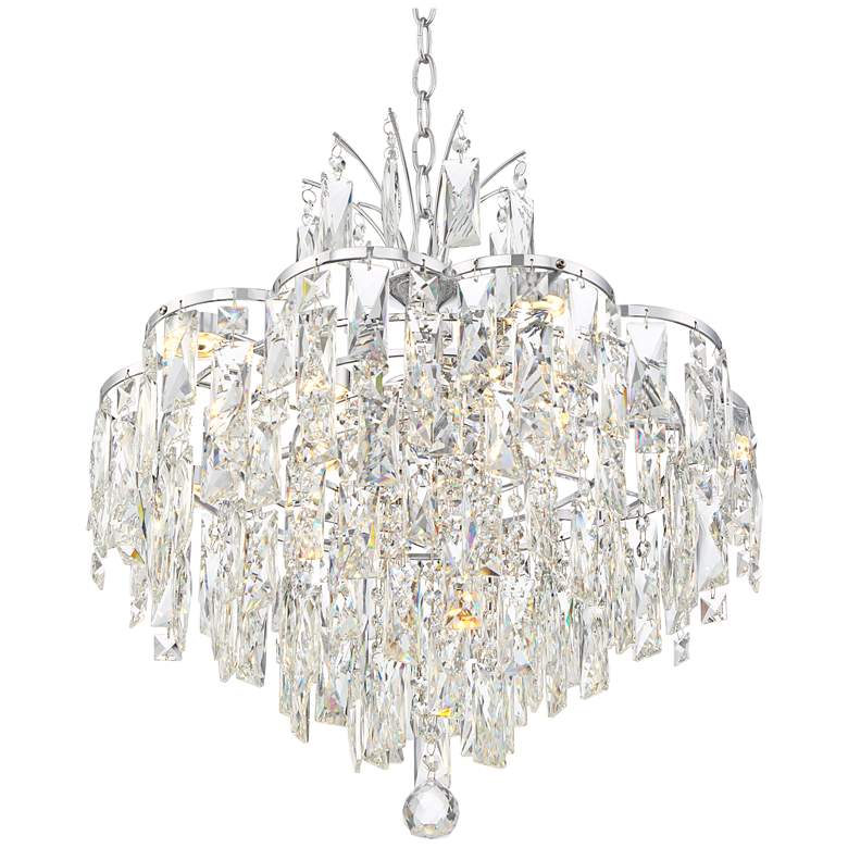 "Villette 20 1/4"" Wide Chrome and Crystal LED Pendant Light more views"