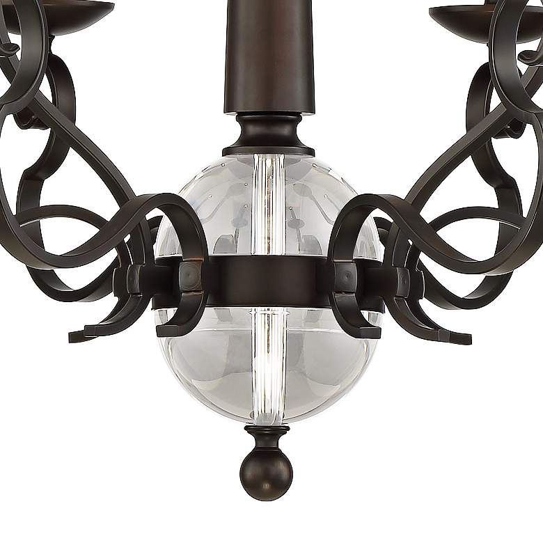 "Westbrook 29 1/2"" Wide Bronze 9-Light Chandelier more views"