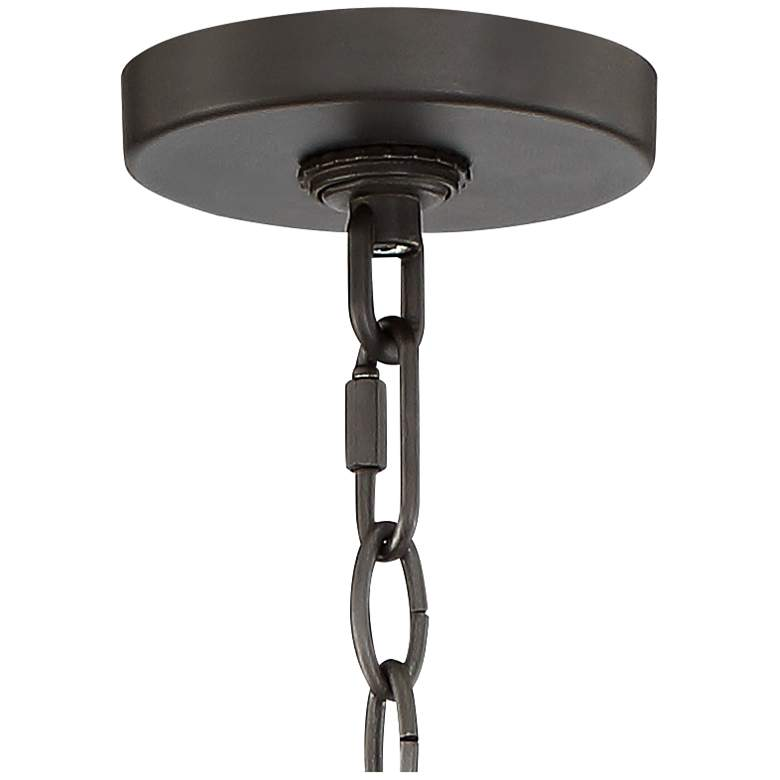 "Belmont 18"" Wide Painting Brass and Black 6-Light Chandelier more views"