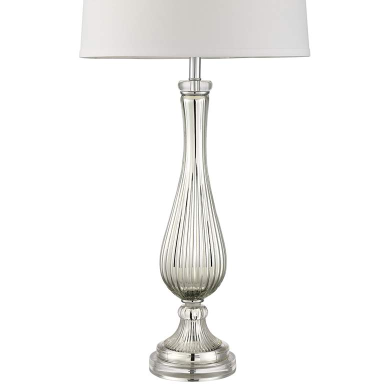 Possini Euro Diana Silver Glass Table Lamp more views