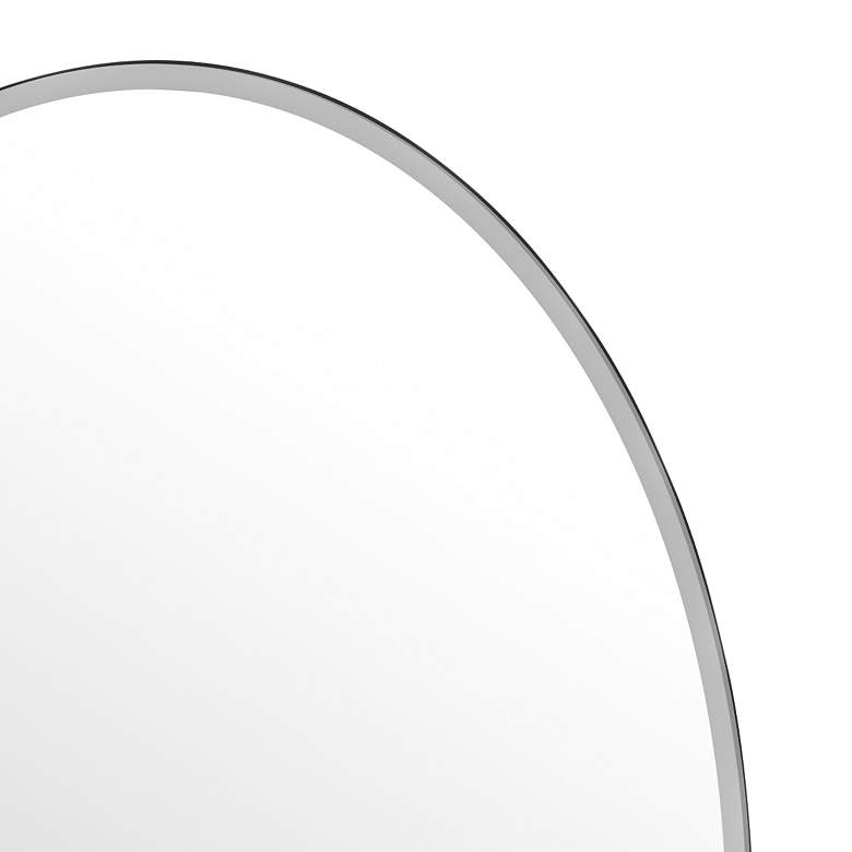 "Elevate Matte Black 28 1/2"" x 32"" Frameless Oval Mirror more views"