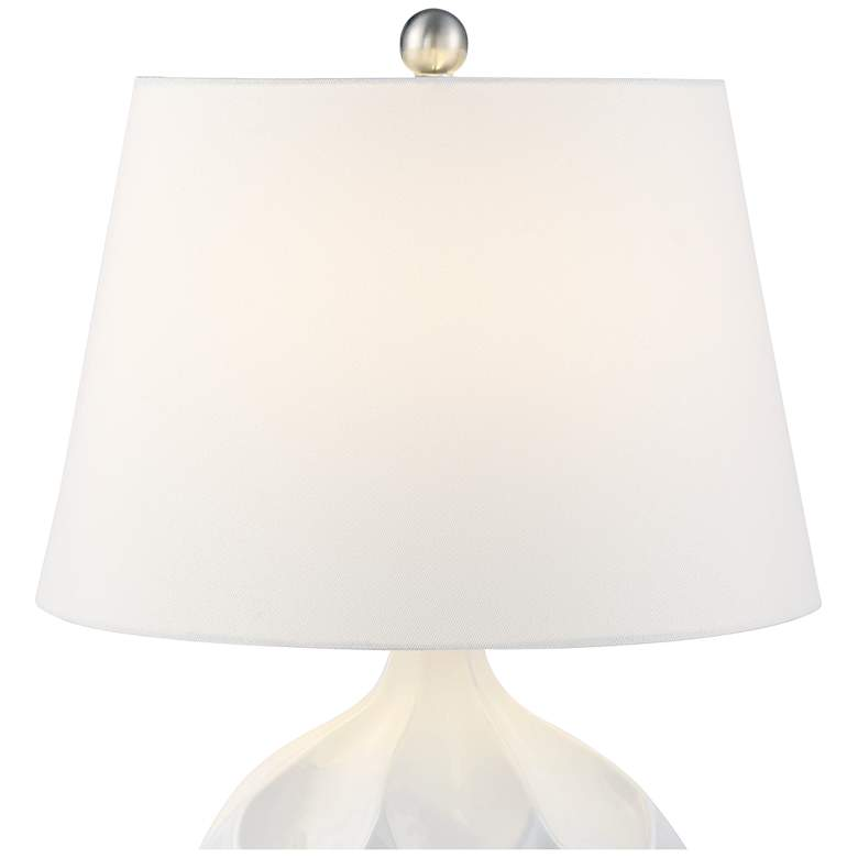 Dobbs White Ceramic Accent Table Lamp more views