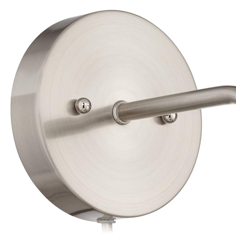 Byers Brushed Nickel Down-Light Pin-Up Wall Lamp more views