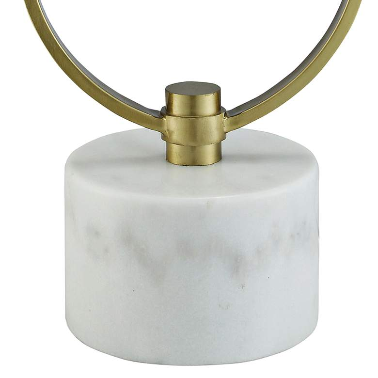 Barclay Soft Brass and White Marble Uplight Table Lamp more views