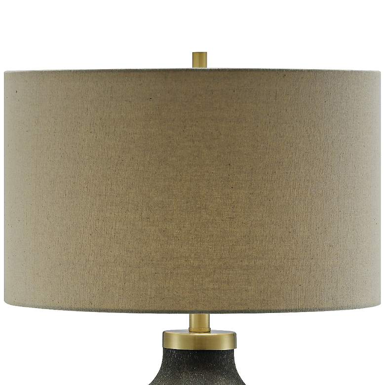 Crestview Collection Liam Black Pitted Glass Table Lamp more views