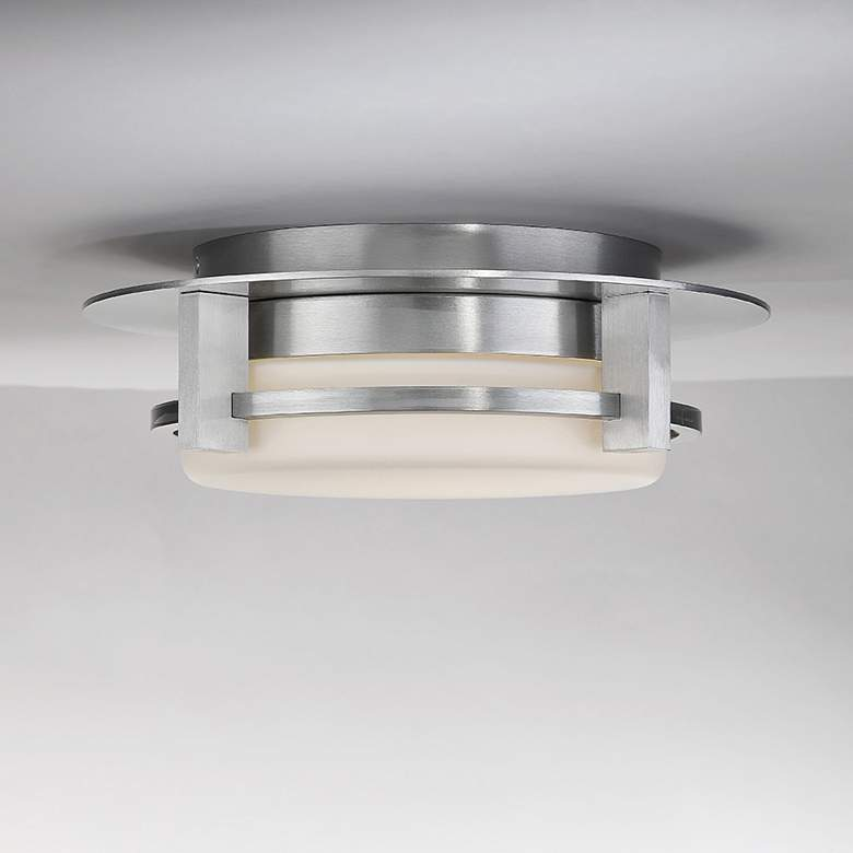 "dweLED Compass 12"" Wide Brushed Aluminum LED Ceiling Light more views"