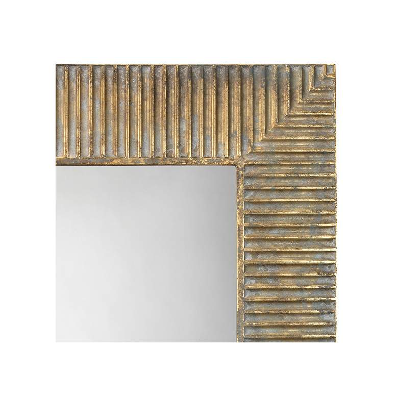 "Jamie Young Slatted Antique Brass 29"" x 41"" Wall Mirror more views"
