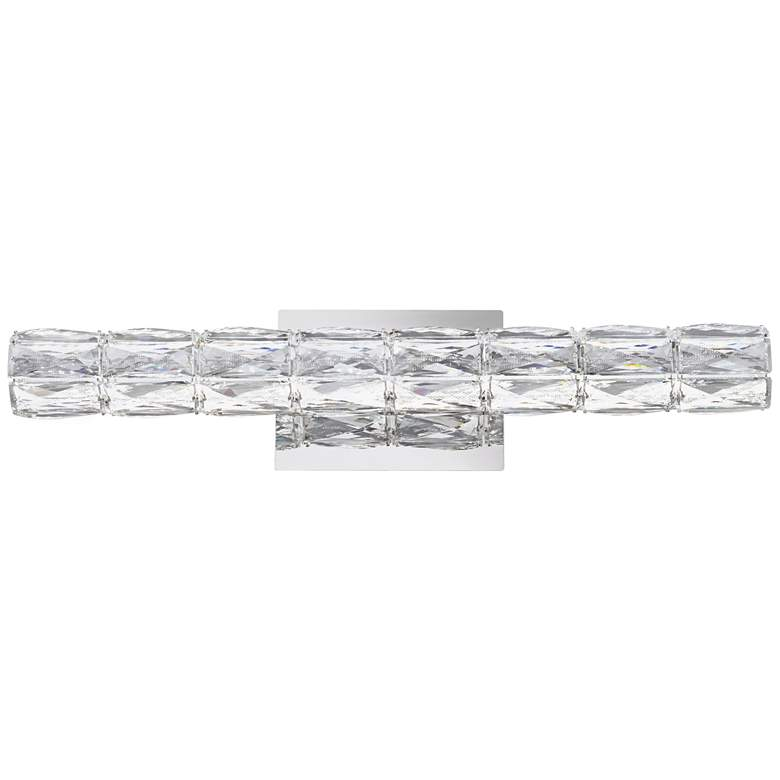 "Evie 24"" Wide Chrome and Crystal LED Bath Bar Light more views"
