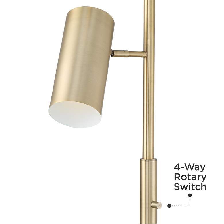 Possini Euro Canasta Trac Tree Floor Lamp Satin Brass more views