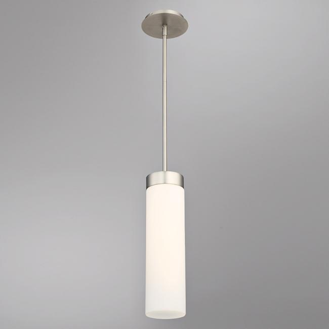 "dweLED Elementum 4 1/2"" Wide Satin Nickel LED Mini Pendant"
